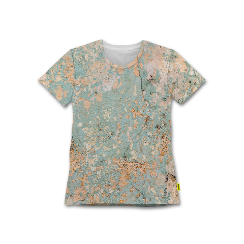 Distressed Wall - Women's Crew Tshirt - Textures