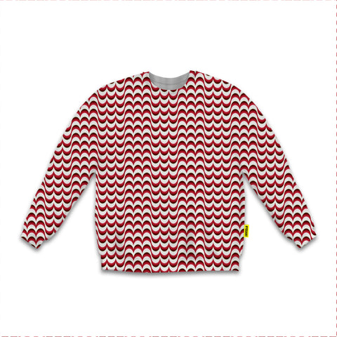 Optical Illusions - Sweatshirt - Red Drips