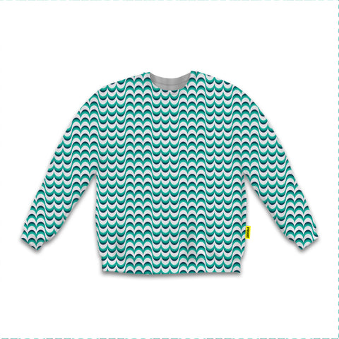 Optical Illusions - Sweatshirt - Green Drips