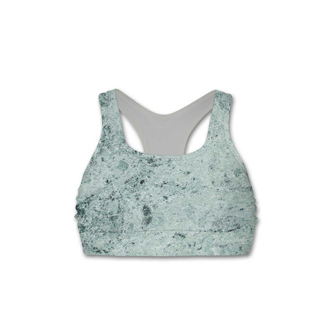 Green Marble - Women's Sports Bra - Textures