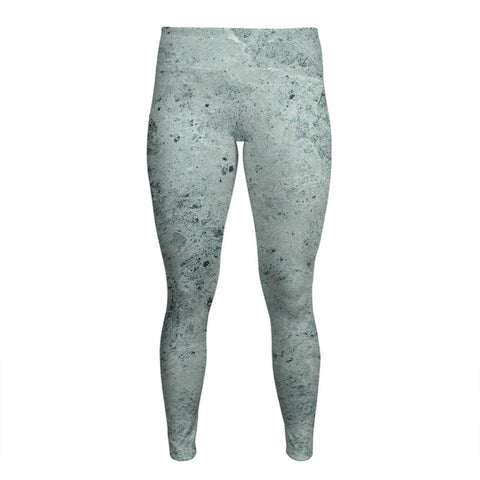 Green Marble - Women's Yoga Pants - Textures