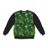 St. Patrick's Day - Men's Blackout Sweatshirt - Green Flowers