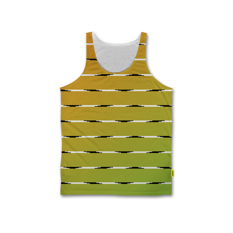 Optical Illusions - Men's Tank - Orange Lines