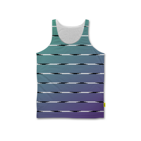 Optical Illusions - Men's Tank - Teal Lines