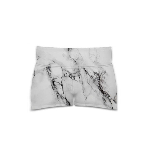 Marble - Women's Yoga Shorts - Textures