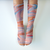 Melted Ice Cream - Mid-Rise Socks