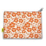 Florals - Stash Sack - Orange Flowers