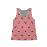 Polka What - Women's Racerback Tank - Plump Pink