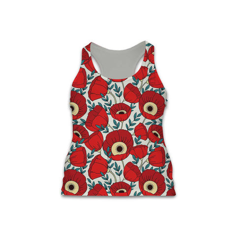 Florals - Women's Performance Tank - Poppys