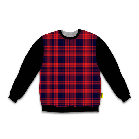 Red - Blackout Sweatshirt - Plaid