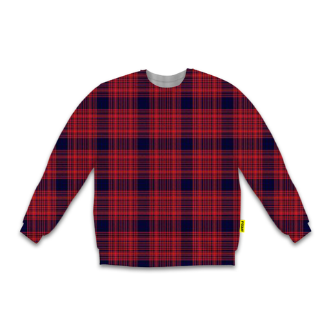 Red - Crew Sweatshirt - Plaid