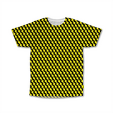 Optical Illusions - Crew Tshirt - Yellow Rubix