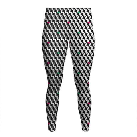 Optical Illusions - Women's Yoga Pants - Rubix