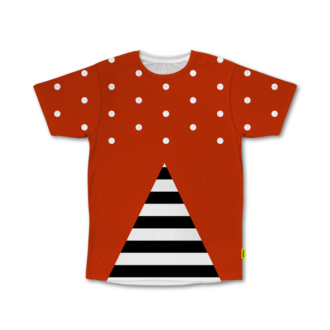 Optical Illusions - Crew Tshirt -  Stripes 'n Dots