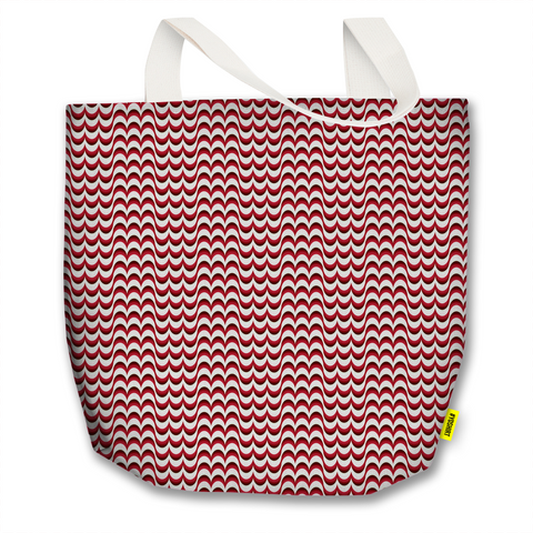Optical Illusions - Tote Bag - Red Drips