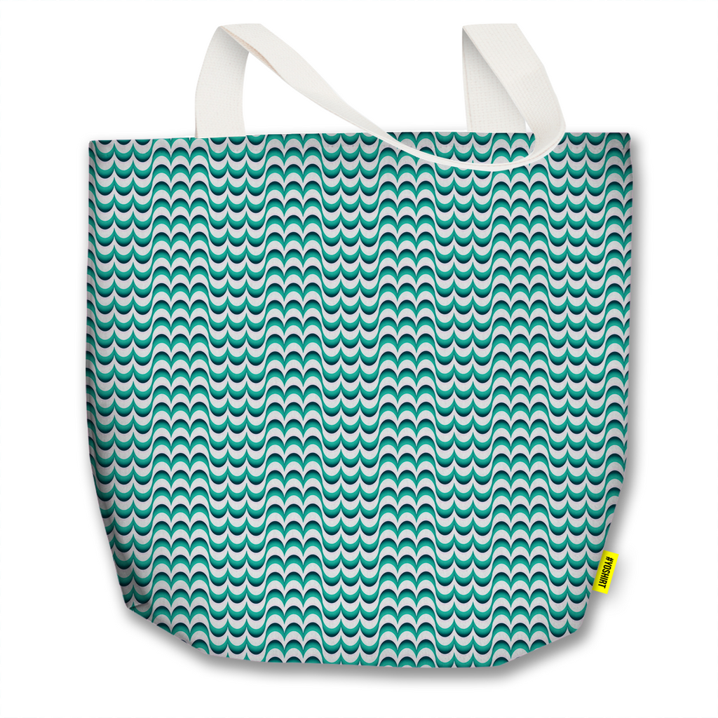 Optical Illusions - Tote Bag - Green Drips