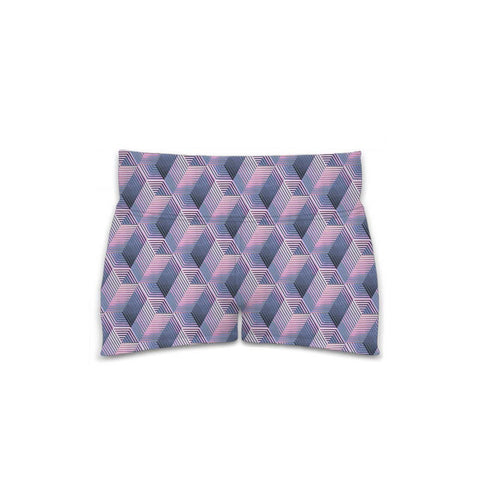 Optical Illusions - Women's Yoga Shorts - Purple Tunnels