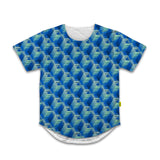 Optical Illusions - Scoop Tshirt - Blue Tunnels