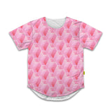 Optical Illusions - Scoop Tshirt -  Pink Tunnels