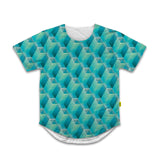Optical Illusions - Scoop Tshirt - Green Tunnels