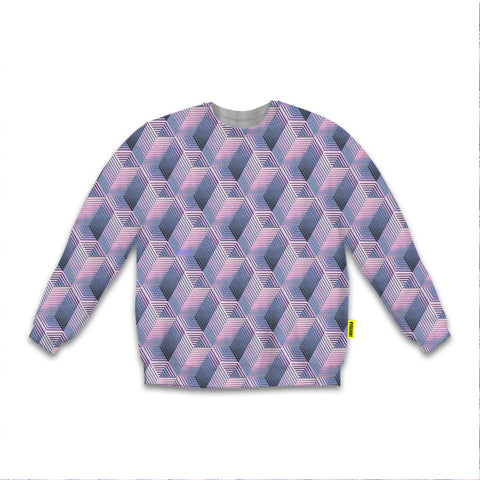 Optical Illusions - Sweatshirt - Purple Tunnels