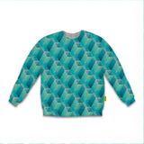 Optical Illusions - Sweatshirt - Green Tunnels