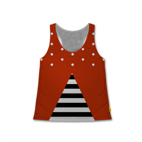 Optical Illusions - Women's Racerback Tank - Stripes 'n Dots