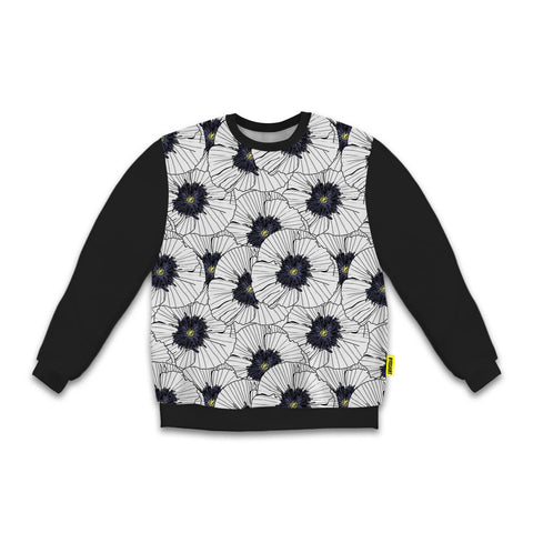 Florals - Blackout Sweatshirt - White Flowers