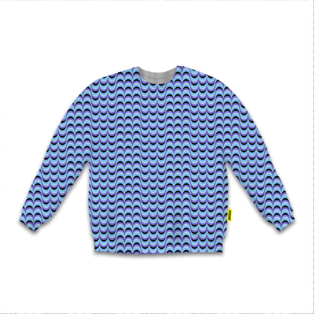 Optical Illusions - Sweatshirt - Purple Drips
