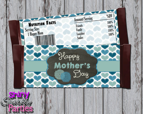 DIY Mother's Day Candy Bar Wrappers with Hearts