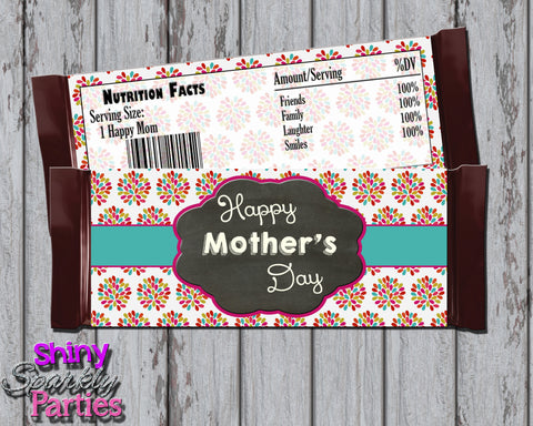Floral Mother's Day Candy Bar Wrappers DIY Printable