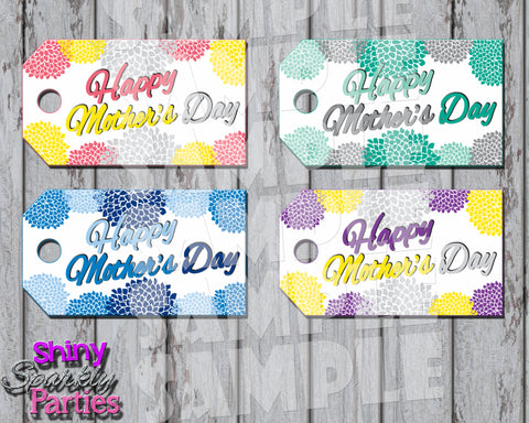 Floral Mother's Day Gift Tags
