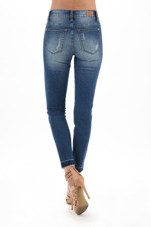 Wild Thing Distressed Skinny Jeans With Leopard Patches 5