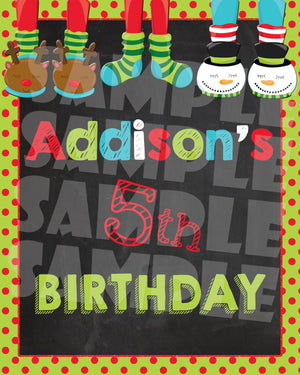 Christmas Pancakes & Pajamas Birthday Party Package