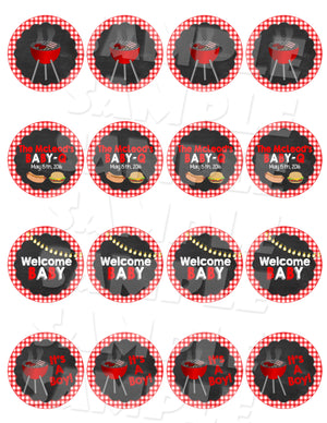 BBQ Cupcake Toppers & Wrappers