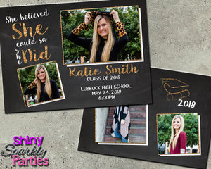 Graduation Announcement for a Girl (Digital File Only), Digital Download, Printable File, Invitation - Forever Fab Boutique