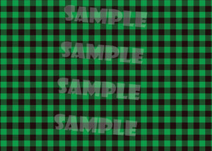 Green & Black Buffalo Check Christmas Photo Card