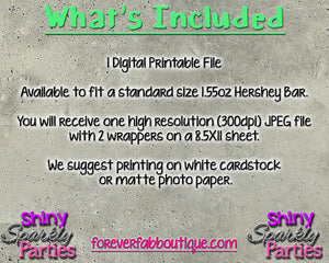 Shark Candy Bar Wrappers - Printable (Digital File Only), Digital Download, Printable File - Forever Fab Boutique