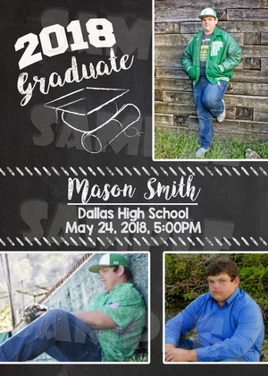 Graduation Announcement (Digital File Only), Digital Download, Printable File, Invitation - Forever Fab Boutique
