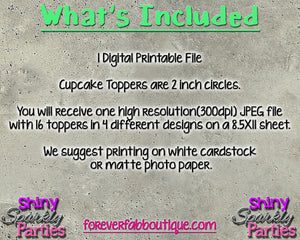 Printable Construction Cupcake Toppers (Digital File Only) 2, Digital Download - Forever Fab Boutique
