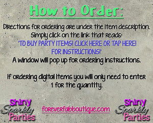 Printable Construction Party Package (Digital Files Only), Digital Download,Printable Files - Forever Fab Boutique