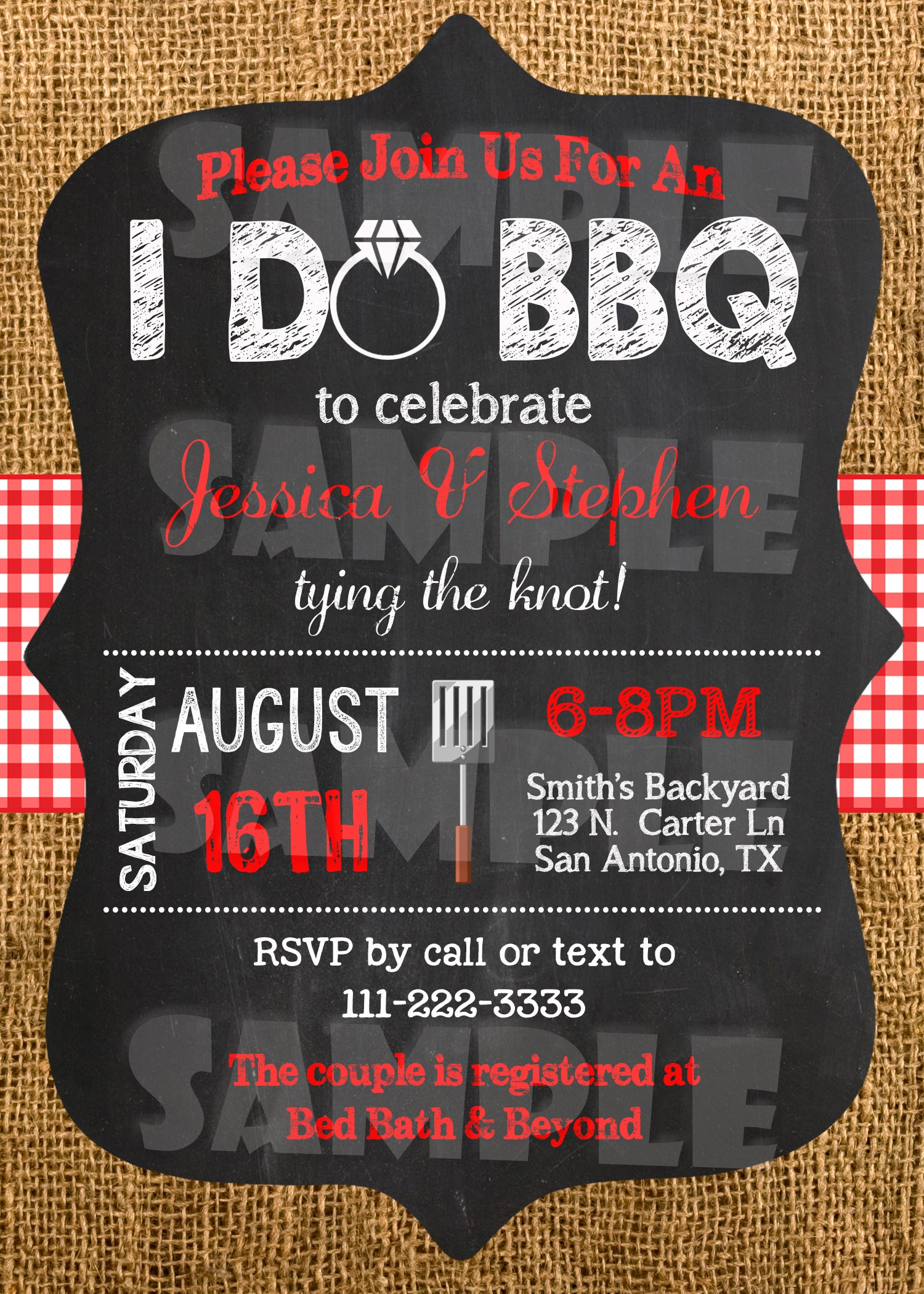 i do bbq invitation engagement party invite forever fab boutique