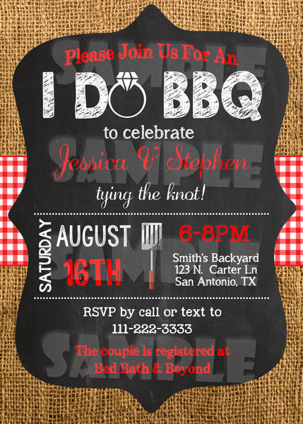 I Do BBQ Engagement Party Invitation - Printable (Digital File Only) - Forever Fab Boutique - 2
