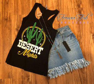 Desert Nights Tank Top in Black, shirt - Forever Fab Boutique