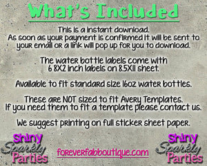 Printable Halloween Water Bottle Labels (Digital File Only),  - Forever Fab Boutique