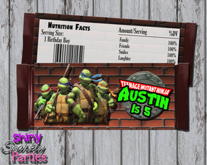 Ninja Turtles Candy Bar Wrappers