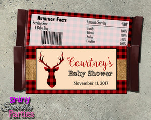 Rustic Deer Candy Bar Wrappers (Digital File Only), Digital Download, Printable File - Forever Fab Boutique