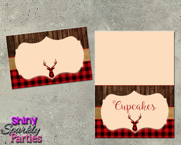 Rustic Deer Food Tents (Digital File Only)