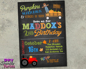 Fall Pumpkin Birthday Invitation