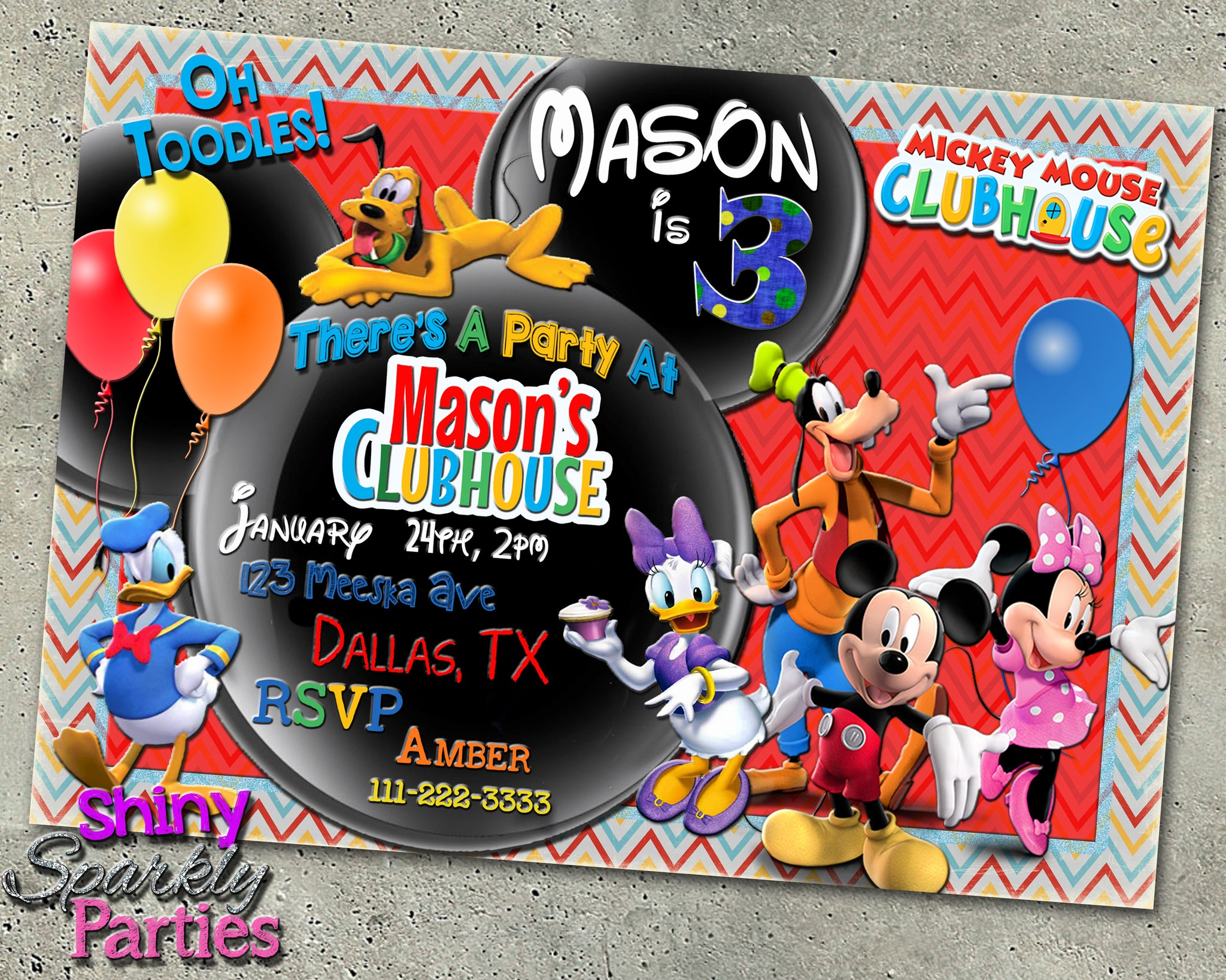Mickey Mouse Clubhouse Birthday Invitation ...